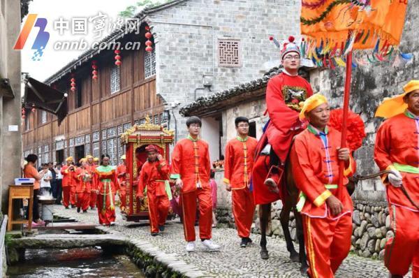 观中式婚礼、品十味豆腐…这个开游节前童古镇很热闹