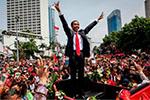 印尼大选结果公布:现任总统佐科・维多多赢得连任