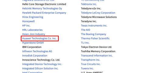 JEDEC协会恢复华为成员资格</p> <p>