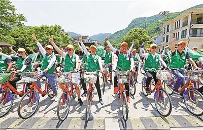 绿色骑行倡环保