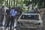 尼日利亚示威者与警方冲突