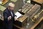 英国首相约翰逊首次在议会进行陈述
