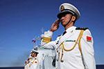 西安舰参加俄海军节海上阅兵