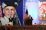 阿富汗总统加尼出席竞选活动