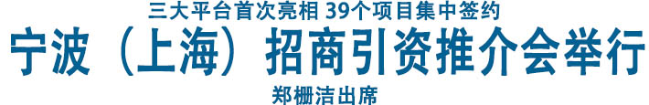 宁波(上海)招商引资推介会举行 郑栅洁出席