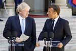 英国首相鲍里斯・约翰逊首访法国