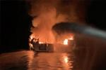 美国加州南部游船失火