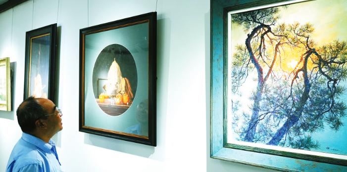 群星展厅展出江干与奉化书画作品