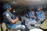 中国赴黎维和部队成功举行安全保障演习