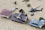 """强台风""""海贝思""""肆虐日本致河流泛滥交通瘫痪 至少35死"""