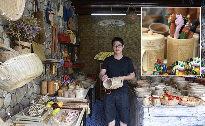 小竹筐、插花篓…慈溪这个小伙子将流行元素融入传统竹编