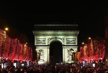 巴黎:香街点灯