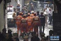 印度一商业楼发生火灾致32人死亡