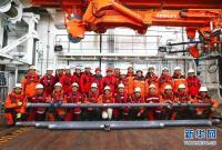 中国科考队首获18.36米长的海底沉积物样品