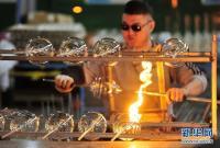 河北河间:工艺玻璃远销海外市场