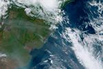 澳大利亚山火影响南美?巴西等国上空有烟霾