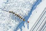 雪原上的铁路检修员