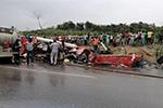 加纳两辆客车相撞致34人遇难 另有40名乘客送医