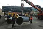 乌克兰首都市中心发生供热管道破裂