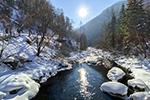 长白山区冬日美