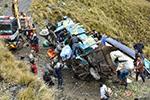 玻利维亚一长途客车坠入山谷致15人死亡