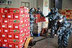 解放军驻鄂部队开始承担武汉市民生活物资配送供应任务