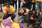 洛杉矶斯台普斯中心24日举行悼念科比活动