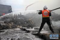 加沙一面包房引发火灾9人死亡