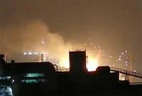 上海宝山区纬一路四高炉发生火灾