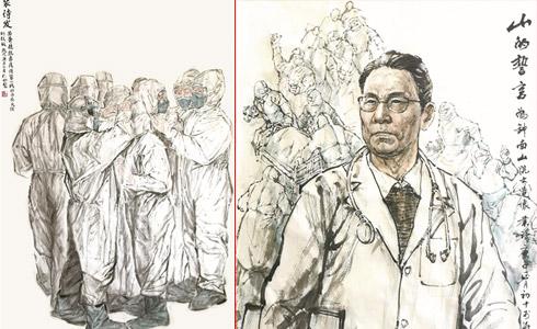 宁波书画院(宁波政协书画院)书画展助力疫情阻击战