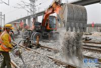 银西高铁陕西段茂陵站完成首次转线换装