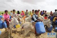 世界水日--也门打水的儿童