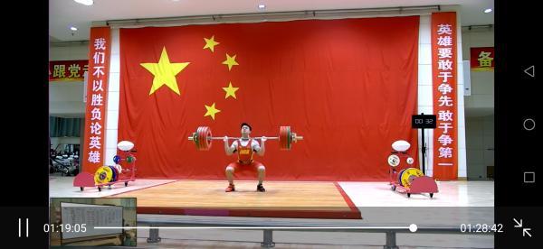 石智勇参加中国举重队达标测试赛 超世界纪录1公斤