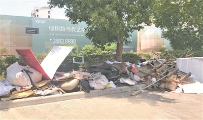 姜山首南中河等地部分区域存在卫生死角