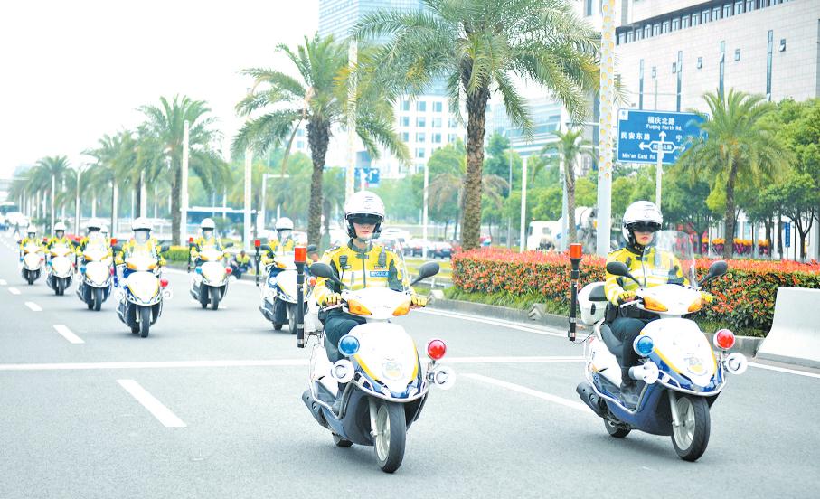 全市首支女子骑警队在鄞成立