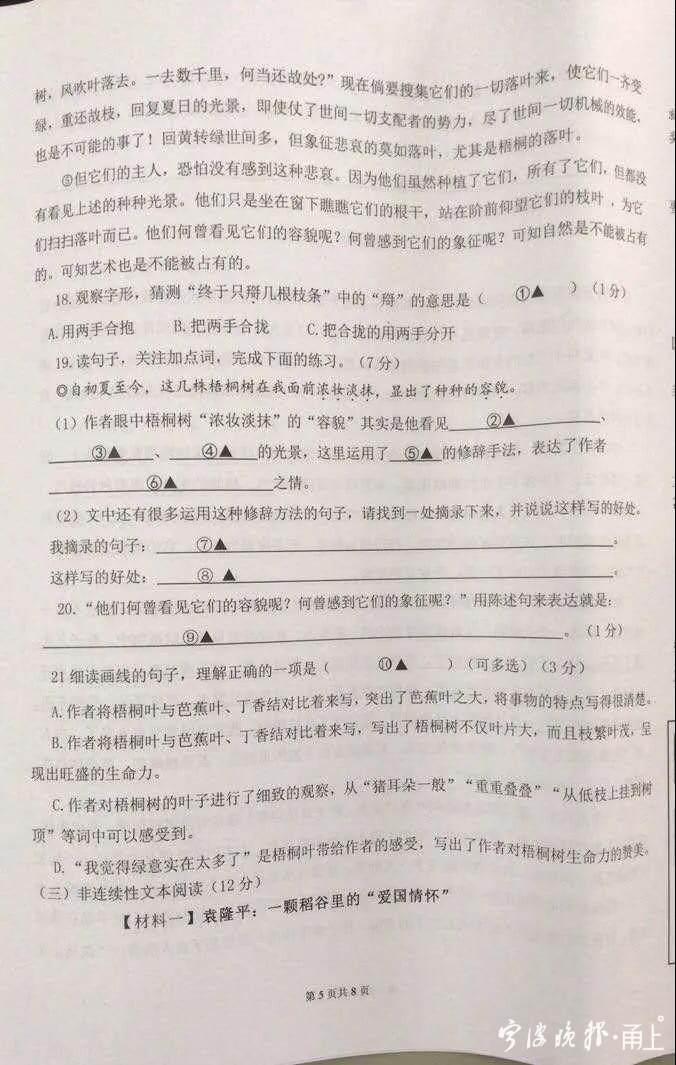 李子柒出现在小学语文卷上?宁波家长吵翻了……