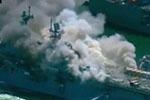 美军一两栖攻击舰爆炸起火 至少21人受伤