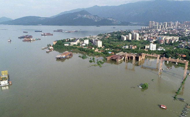 卫星监测显示:鄱阳湖主体及附近水域面积近10年最大