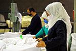 叙利亚:口罩原材料生产忙