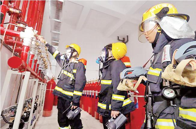 我区开展公用地下变电站消防应急演练