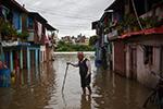 强降雨致尼泊尔首都内涝