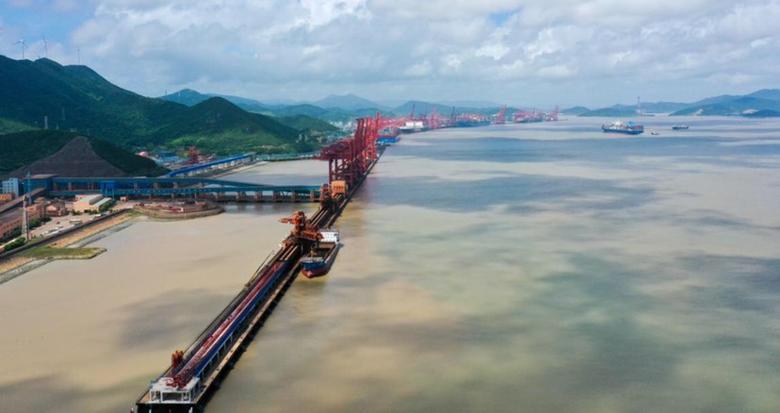 浙江在建最大矿石中转码头有了重大进展