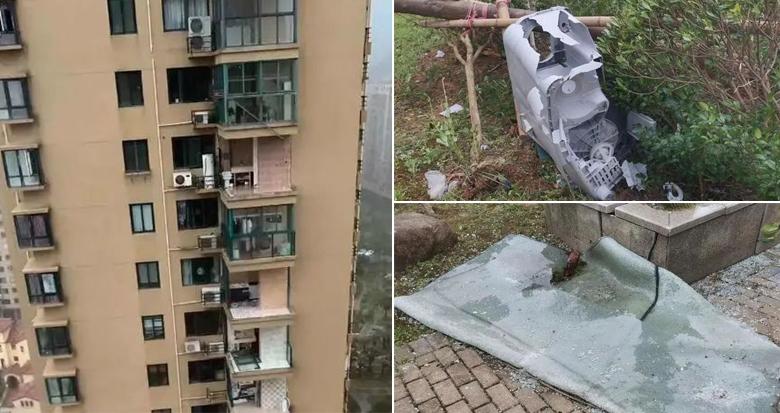 阳台玻璃被吹走、洗衣机刮下楼……玉环一小区遭台风重创