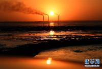 科威特城海边日落