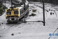 孟买遭遇强降雨