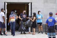 纽约:排队领取免费食品