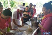 中国美食走进基里巴斯小区