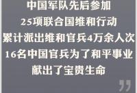 致敬!30年来16名中国维和官兵牺牲(附名单)