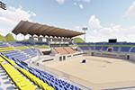 亚运沙滩排球主场馆结顶 明年3月建成