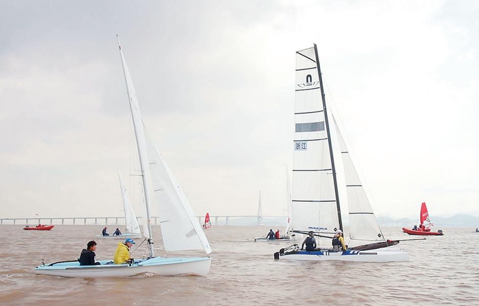 宁波湾帆船赛开赛